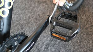 Removing bike pedals
