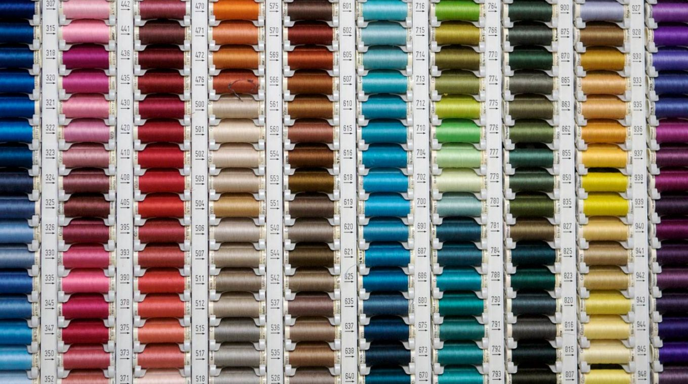 Multicoloured thread