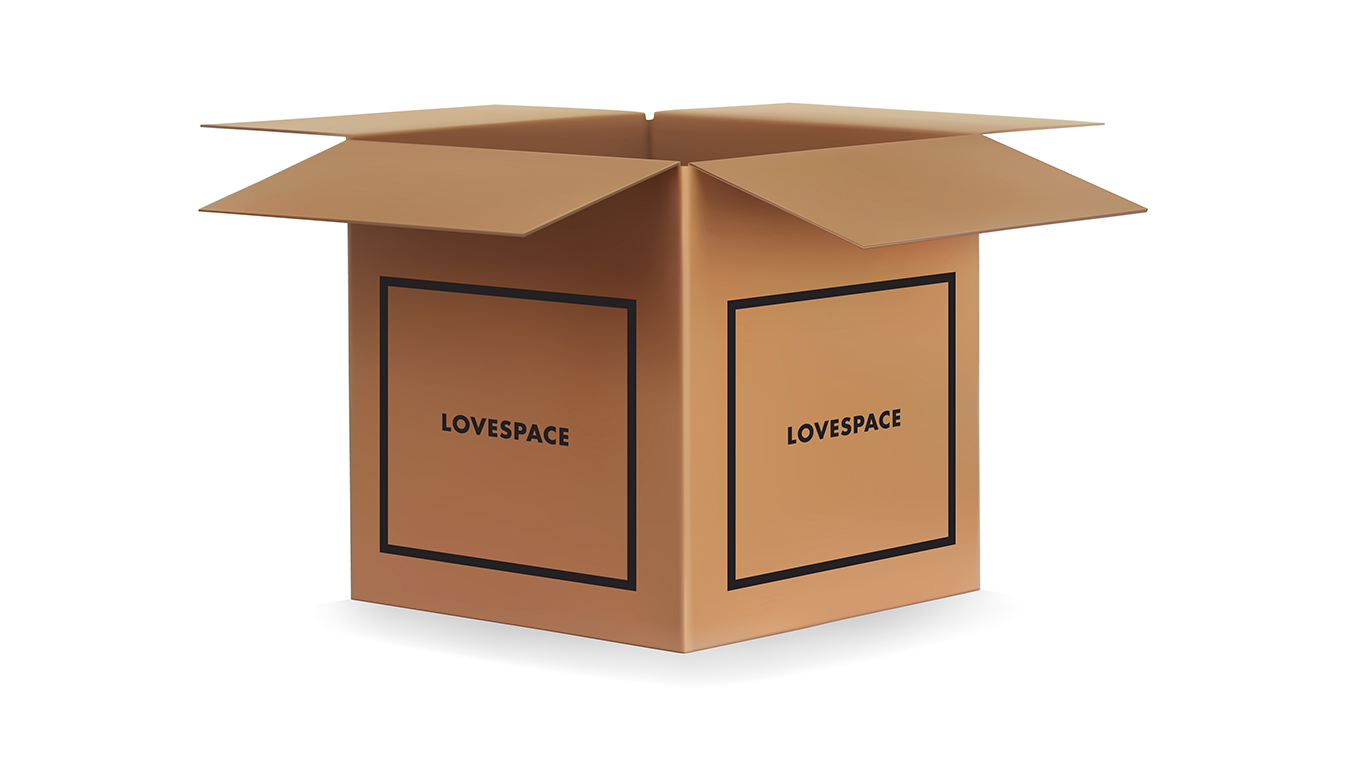 LOVESPACE cardboard box for storage