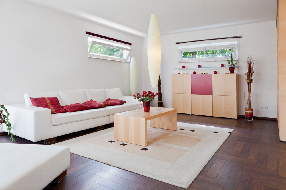 Clean decluttered living room London