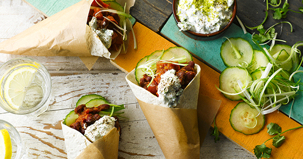 Mexican Bean Wraps