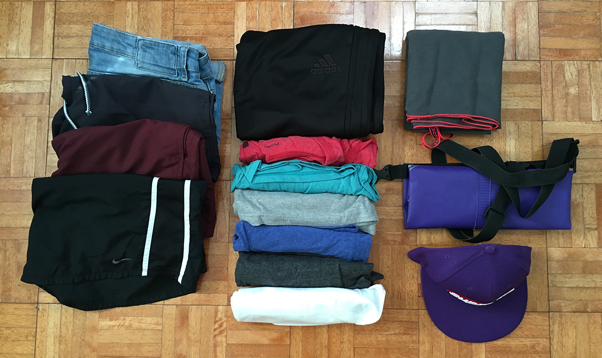 Travelling light - clothes a man needs to pack