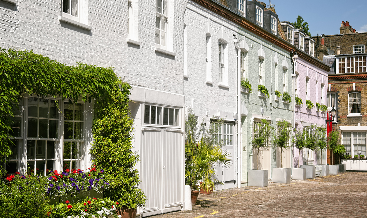 Mews houses in Notting Hill, London. W11