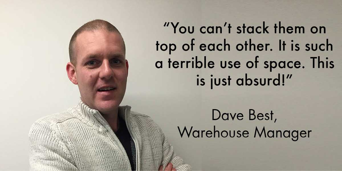Dave Best quote on round cardboard boxes