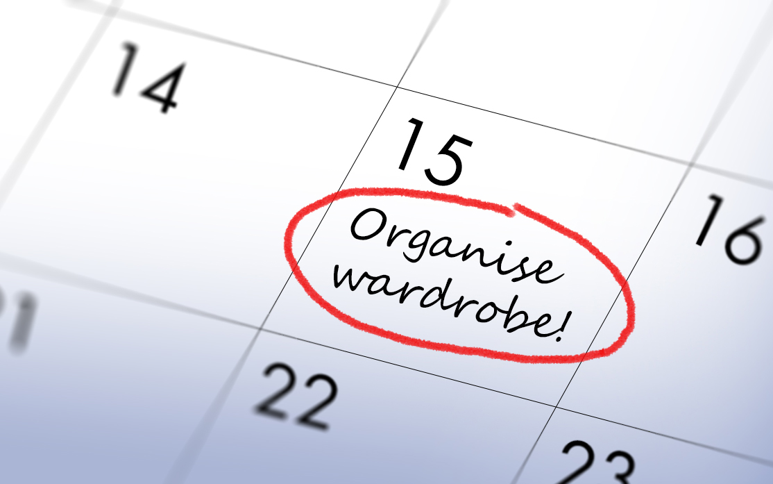 make time to organise your wardrobe